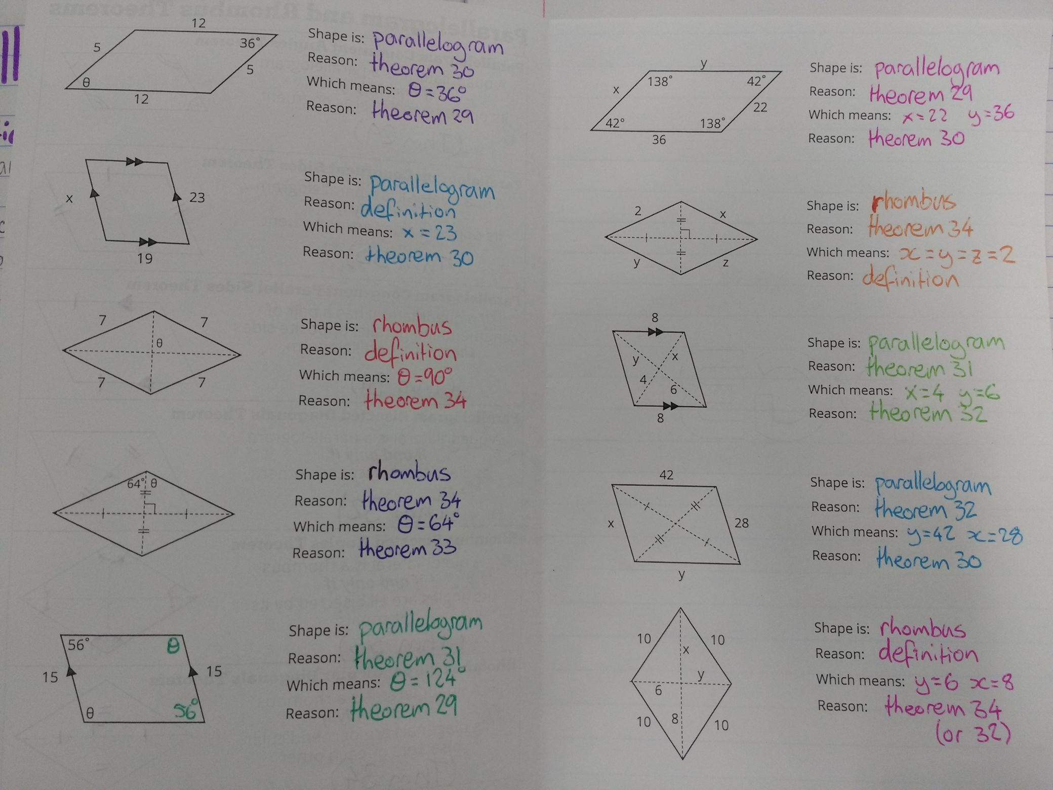 Parallelogram and Rhombus Theorems – The Prime Factorisation
